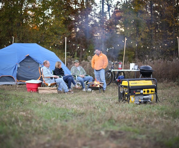 Camping with friends and generator