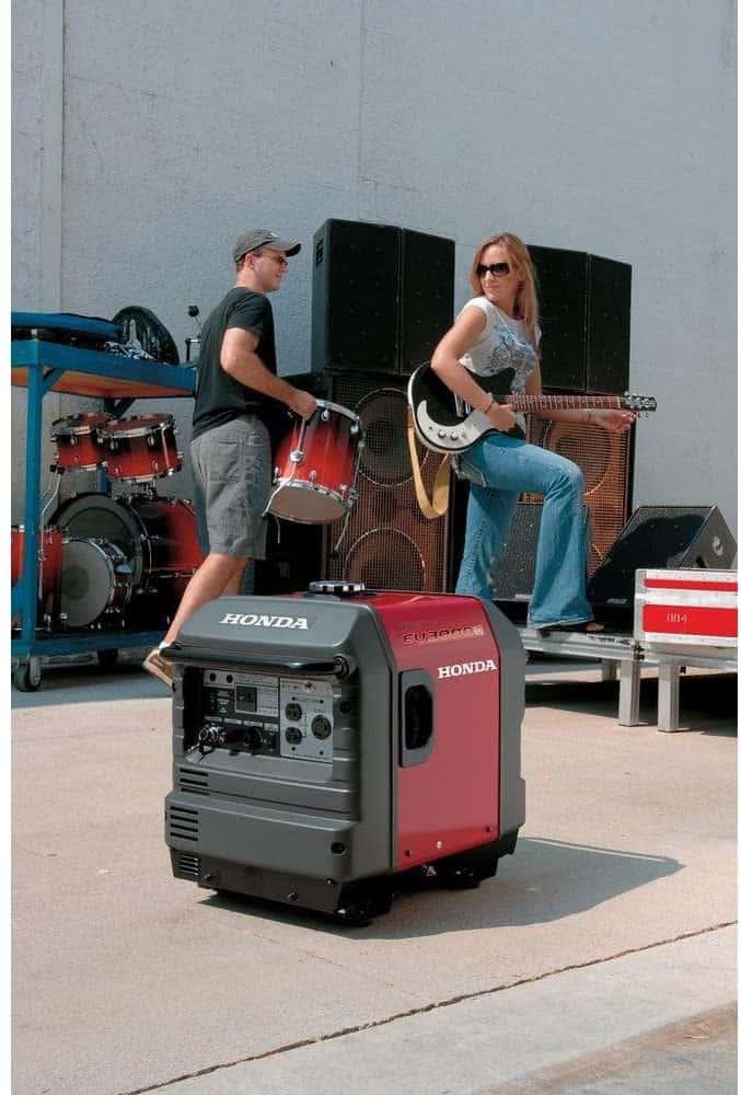 Honda inverter generator supply power for a band