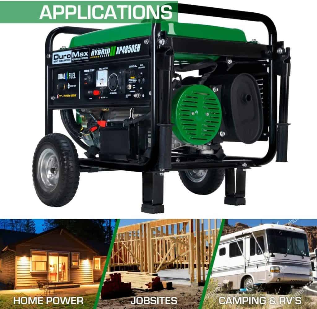The DuroMax is a top propane generator