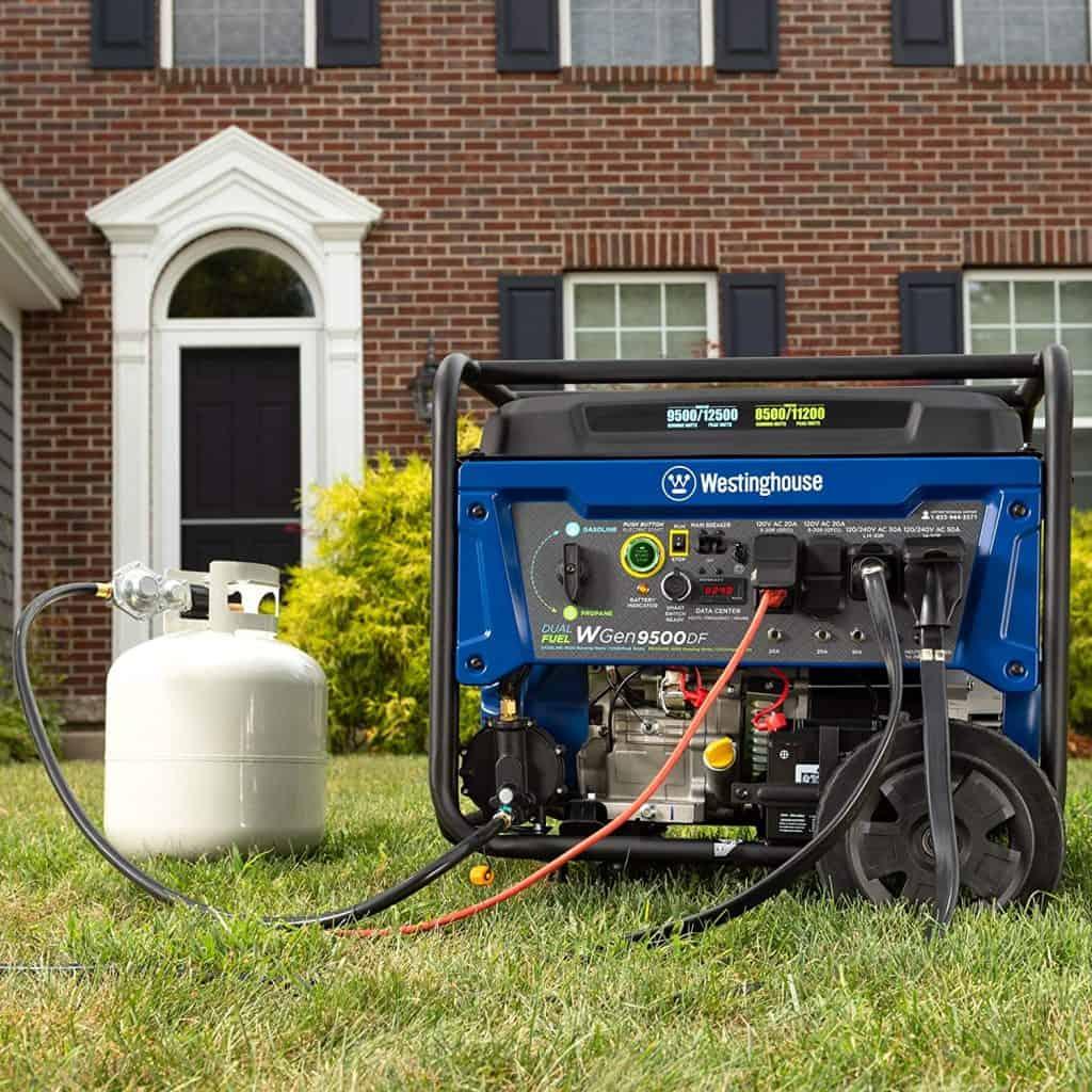 the best 10000 watt generator, the Westinghouse Wgen9500DF