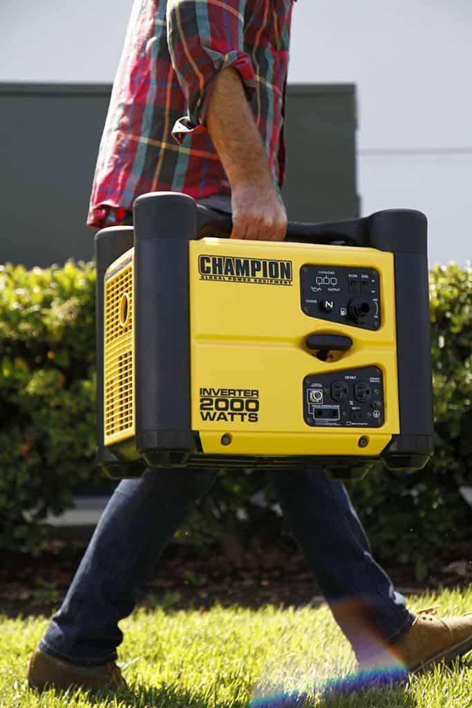 The Champion 2000 Watt Inverter Generator is highly portable